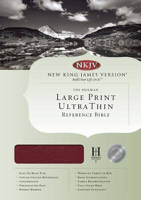 Ultrathin Large Print Reference Bible-NKJV
