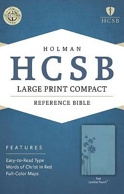 Picture of HCSB Large Print Compact Bible, Teal Leathertouch