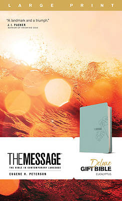 Picture of The Message Deluxe Gift Bible, Large Print (Leather-Look, Teal)