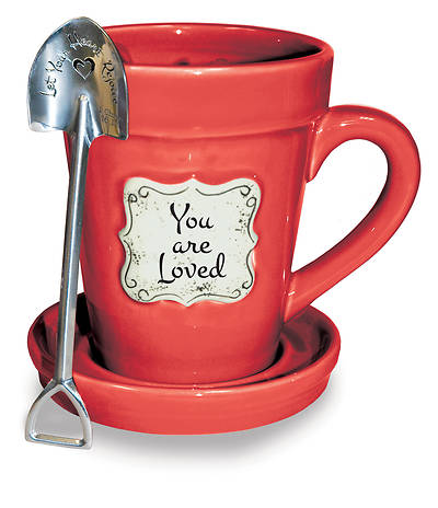 Picture of Flower Pot Mug: Red-You are Loved