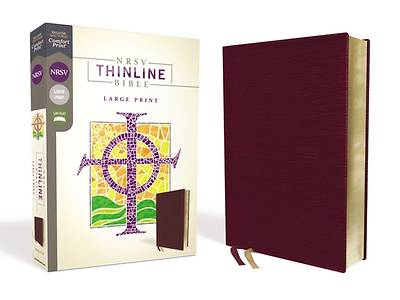 Picture of NRSV Thinline Bible, Large Print, Bonded Leather, Burgundy, Comfort Print