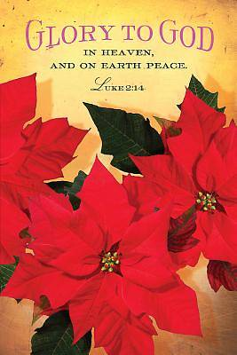 Glory To God Christmas Poinsettia Bulletin 2014 (Pkg of 50)
