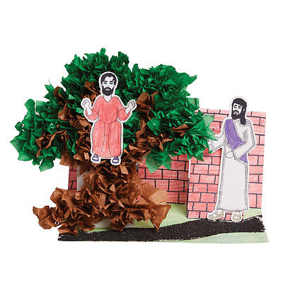 Vacation Bible School (VBS) 2018 Rolling River Rampage Zacchaeus Diorama Craft Kit (Pkg of 12)