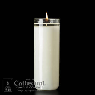 Picture of Cathedral Sacralux 12% Beeswax 8-Day Glass Open Mouth Sanctuary Light