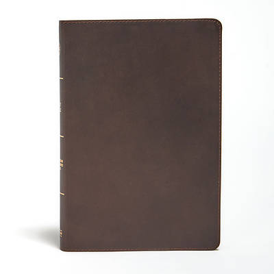 Picture of CSB Large Print Ultrathin Reference Bible, Brown Genuine Leather, Black Letter Ed Indexed