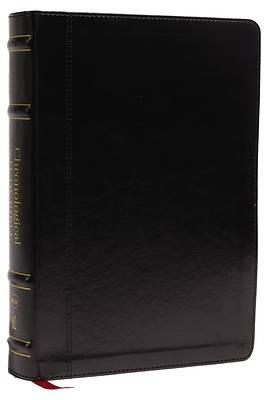 Picture of Nkjv, Chronological Study Bible, Leathersoft, Black, Comfort Print