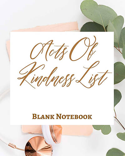 Picture of Acts of Kindness List - Blank Notebook