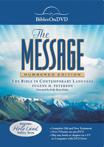 The Message Numbered Edition Bible on DVD