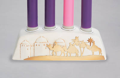 """Picture of Advent Block Candle Holder 2.5""""H"""