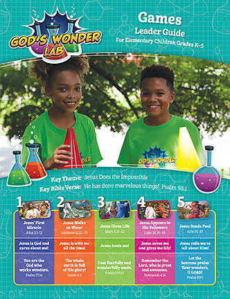 Picture of Vacation Bible School VBS 2021 God's Wonder Lab Game Leader Guide