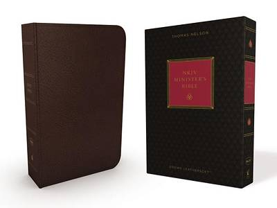 NKJV, Ministers Bible, Imitation Leather, Brown, Red Letter Edition