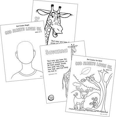 Picture of Simply Loved Q1 PreK-K Coloring Creations