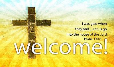 Picture of Welcome! Pew Card Package of 50