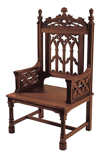 Picture of Canterbury Collection Celebrant Chair - Walnut Stain