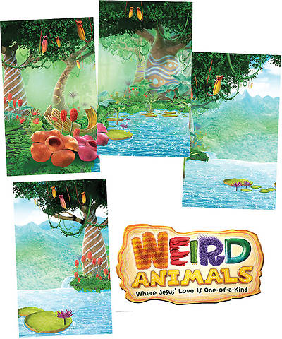 Group VBS 2014 Weird Animals Giant Decorating Posters Set of 5