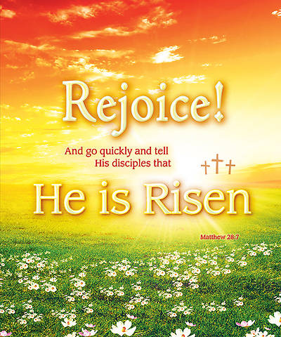 Easter Sunrise Bulletin Matthew 28:7 Large Size Package of 100