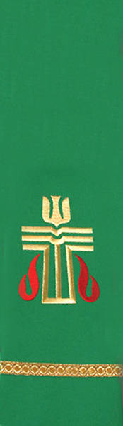 Picture of Green Presbyterian Liberty With Gold Braid Stole