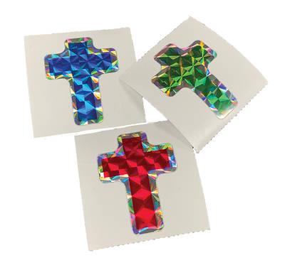 Picture of Vacation Bible School VBS 2021 Bling Cross Stickers (1 roll/100 stickers)