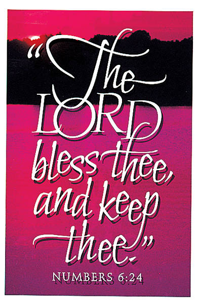 Lord Bless Thee Numbers 6:24 Postcard Package of 25