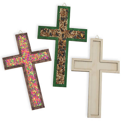 Vacation Bible School (VBS) 2018 Rolling River Rampage Raised Edge Wood Craft Cross (Pkg of 12)