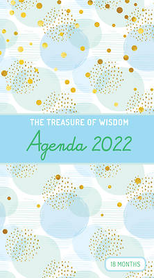 Picture of The Treasure of Wisdom - 2022 Pocket Planner - Bubbles and Gold - Blue