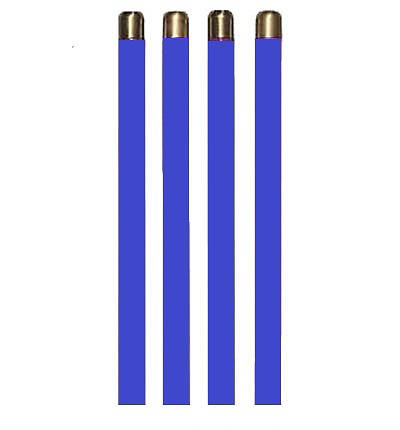 "Advent Tube Candles Set of 4 Blue 13 3/8"" x 1 1/2"""