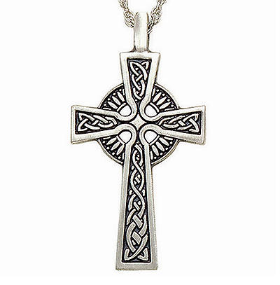 Celtic Small Cross Pendant with Chain