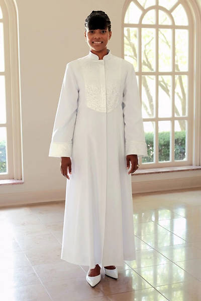 Picture of WomenSpirit Esther with Brocade Custom White Robe