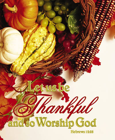 Thanksgiving/Worship God Bulletin Large (Package of 100)