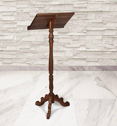 Picture of Portable Lectern - Walnut Stain