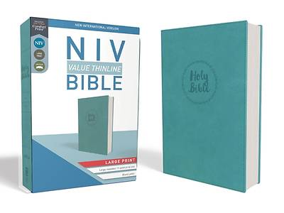 Picture of NIV, Value Thinline Bible, Large Print, Imitation Leather, Blue