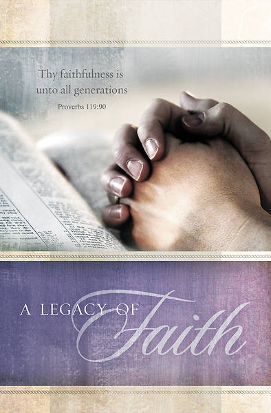 African American Heritage A Legacy of Faith Proverbs 119:90 (KJV) Regular Size Bulletin