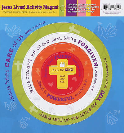 Jesus Lives! Lets Celebrate Activity Magnet