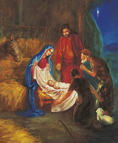 Christmas Traditional Nativity Bulletin Legal (Package of 100)