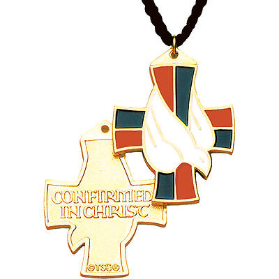 "Picture of Confirmed in Christ Descending Dove 1 1/2"" Pendant with 33"" Cord"