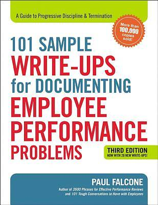 Picture of 101 Sample Write-Ups for Documenting Employee Performance Problems