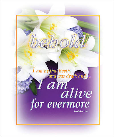 Behold I Am Alive Easter Bulletin Large Size Package of 100