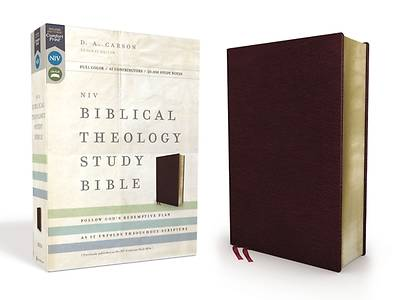 Picture of NIV, Biblical Theology Study Bible, Bonded Leather, Burgundy, Comfort Print