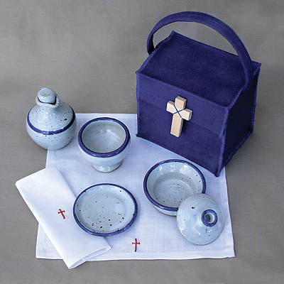 Deluxe Ceramic Portable Communion Set