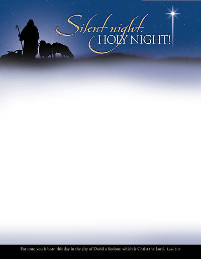 Silent Night Christmas Letterhead (Package of 100)