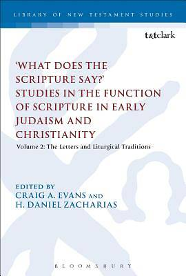 What Does the Scripture Say? Studies in the Function of Scripture in Early Judaism and Christianity