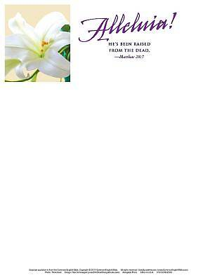 Hes Been Raised Lilies Easter Letterhead (Pkg of 50)