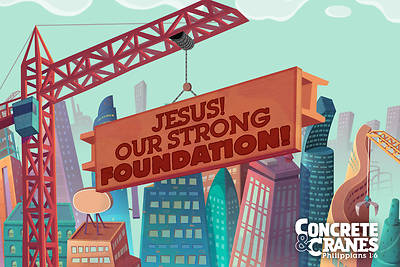 Picture of Vacation Bible School (VBS) 2020 Concrete and Cranes Supersized Postcards Pkg 50