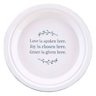 Picture of Pie Plate Ceramic Love Joy Grace