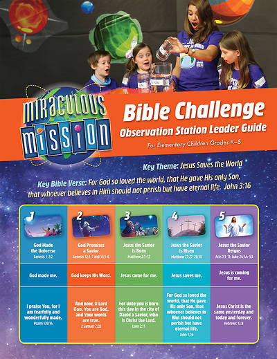 Picture of Vacation Bible School (VBS) 2019 Observation Station Bible Challenge Guide