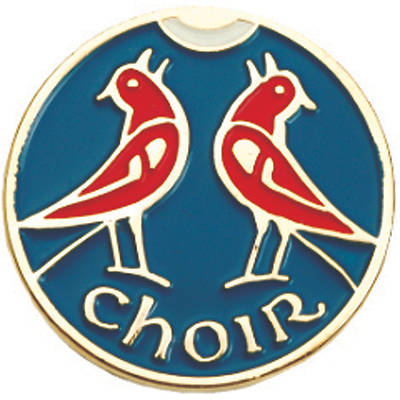 Picture of Two Red Birds Choir Pin