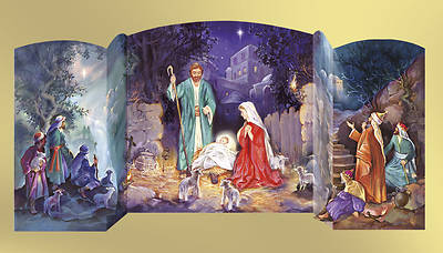 3-D Manger Scene Advent Calendar #CA756