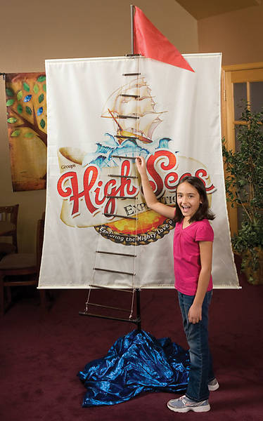 Group Vacation Bible School 2010 High Seas Expedition Sail Display VBS