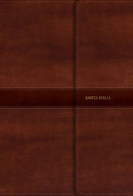 Picture of Rvr 1960 Biblia Letra Super Gigante Marron Simil Piel Con Indice y Cierre