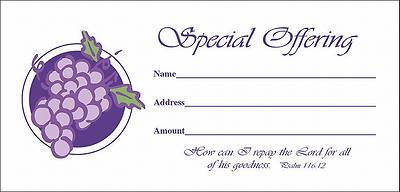 Picture of Envelope Special Offering Grapes Bill Size, Package of 100